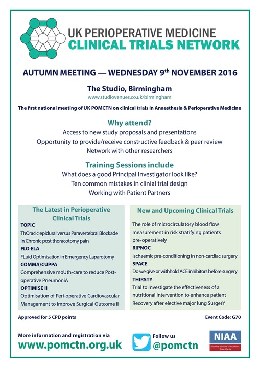 POMCTN Autumn Meeting 2016 Flyer